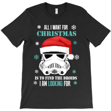 All I Want For Christmas T-shirt Designed By Rardesign