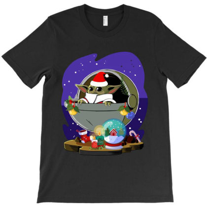 Baby Yoda Christmas T-shirt Designed By Rardesign