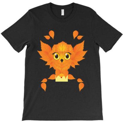 Leaf Owl T-shirt Designed By Rardesign