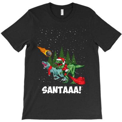 Santaaa Dinosaur T-shirt Designed By Rardesign