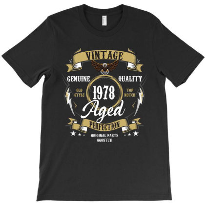 Vintage 1978 Aged Perfection T-shirt Designed By Rardesign