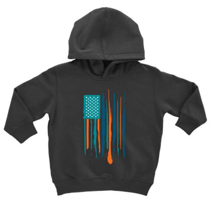 Hot Flag Toddler Hoodie Designed By Kimochi