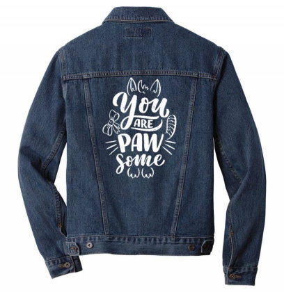 You Are Paw Some 1 Men Denim Jacket Designed By Dulart