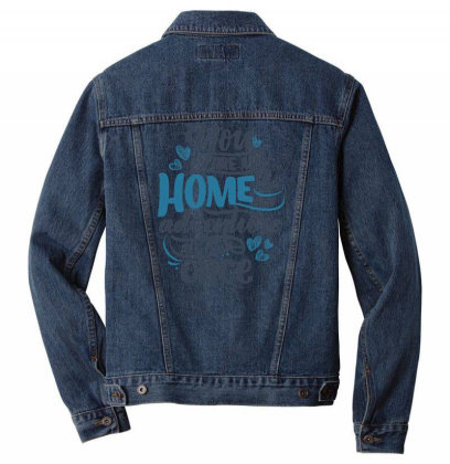You Are My Home Men Denim Jacket Designed By Dulart