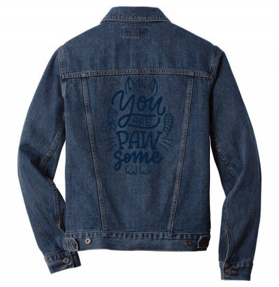 You Are Paw Some Men Denim Jacket Designed By Dulart