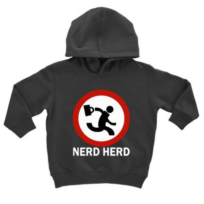 Nerd Herd Toddler Hoodie Designed By Kimochi
