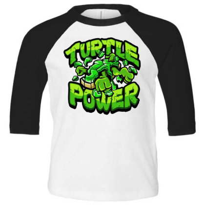 Ninja Turtles Power Toddler 3/4 Sleeve Tee Designed By Kimochi