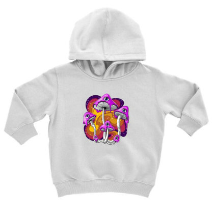 Magic Mushroom Psychedelic Toddler Hoodie Designed By Gita Nava