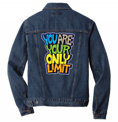 You Are Your Only Limit 1 Men Denim Jacket Designed By Dulart