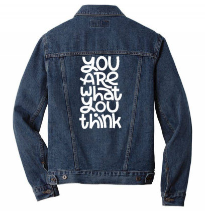 You Are What You Think Men Denim Jacket Designed By Dulart
