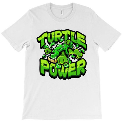 Ninja Turtles Power T-shirt Designed By Kimochi