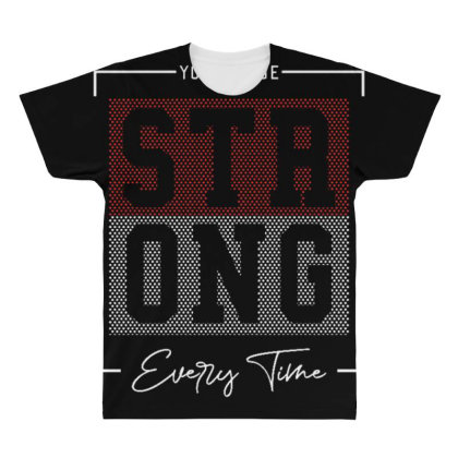 You Can Be Strong All Over Men's T-shirt Designed By Dulart