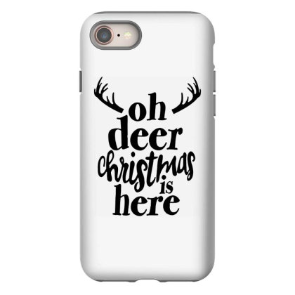 Oh Deer Christmas Here Iphone 8 Case Designed By Kimochi