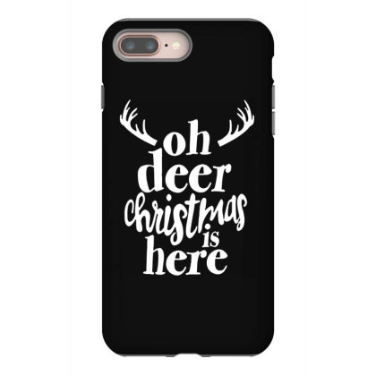 Oh Deer Christmas Here Iphone 8 Plus Case Designed By Kimochi