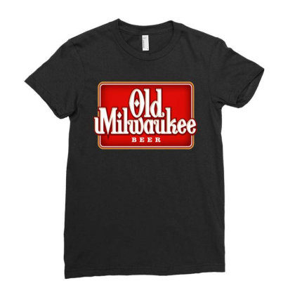 Old Milwaukee Beer Ladies Fitted T-shirt Designed By Kimochi