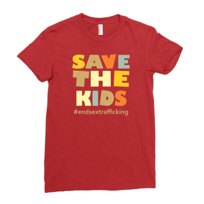 Child Trafficking Ladies Fitted T-shirt Designed By Rimba Kurniawan