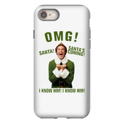 Omg Santa's Coming Elf Iphone 8 Case Designed By Kimochi