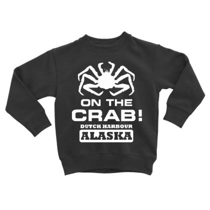 On The Crab Toddler Sweatshirt Designed By Kimochi