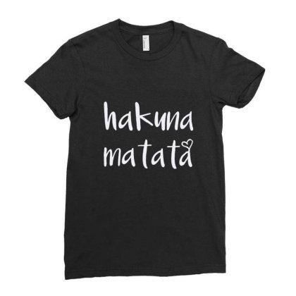 Hakuna Matata T Shirt Cute Letter Print Short Ladies Fitted T-shirt Designed By Welcome12