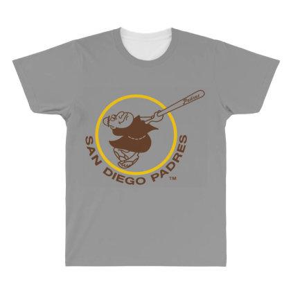 Sandiego Padres All Over Men's T-shirt Designed By Rimba Kurniawan