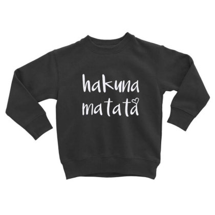Hakuna Matata T Shirt Cute Letter Print Short Toddler Sweatshirt Designed By Welcome12