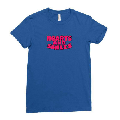 The Plastic Hearts Potrait Ladies Fitted T-shirt Designed By Gita Nava