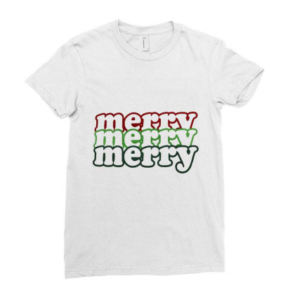 Merry Bright Christmas. Xmas Gift, Xmas 2020 Ladies Fitted T-shirt Designed By Welcome12
