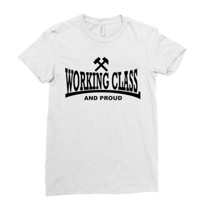 Working Class Ladies Fitted T-shirt Designed By Smile 4ever