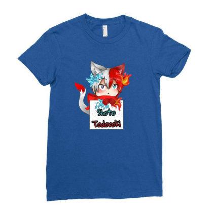 Todoroki Shoto Hero Ladies Fitted T-shirt Designed By Gita Nava