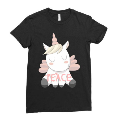 Peace Ladies Fitted T-shirt Designed By Pravalika