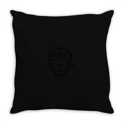 Cool Lion Throw Pillow Designed By Yusrizal_