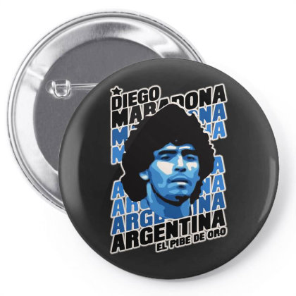 Diego Maradona Argentina El Pibe De Oro Pin-back Button Designed By Smile 4ever