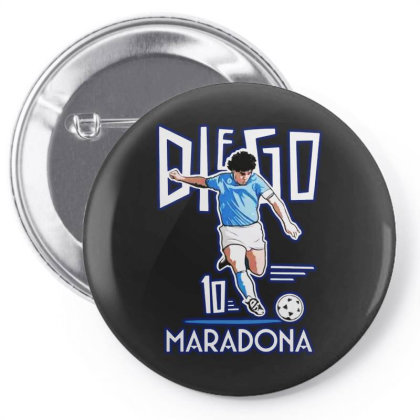 Diego Maradona Argentina Soccer Legend Pin-back Button Designed By Smile 4ever