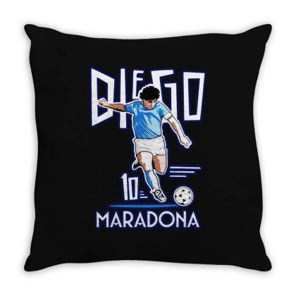 Diego Maradona Argentina Soccer Legend Throw Pillow Designed By Smile 4ever