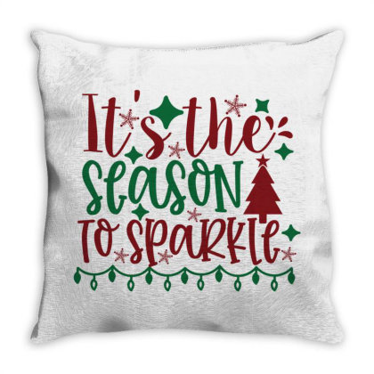 Its The Season To Sparkle Throw Pillow Designed By Chiks