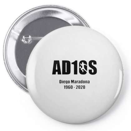 Diego Maradona Argentina Best Footballer Adios Pin-back Button Designed By Smile 4ever