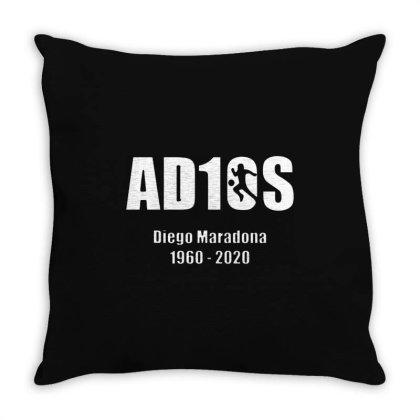 Diego Maradona Argentina Best Footballer Adios 1960 2020 Throw Pillow Designed By Smile 4ever