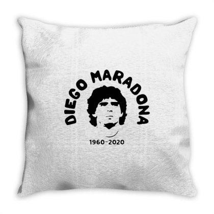 Diego Maradona 1960 2020 Throw Pillow Designed By Smile 4ever