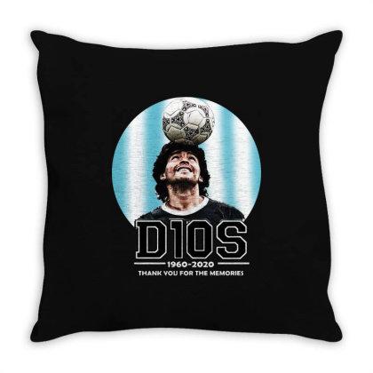 Diego Maradona  Thank You For The Memories Throw Pillow Designed By Smile 4ever