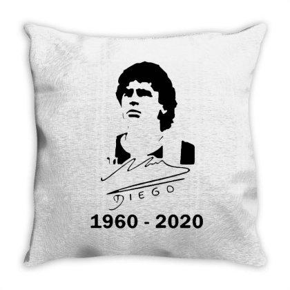 Diego Maradona 1960 – 2020 Legend Throw Pillow Designed By Smile 4ever