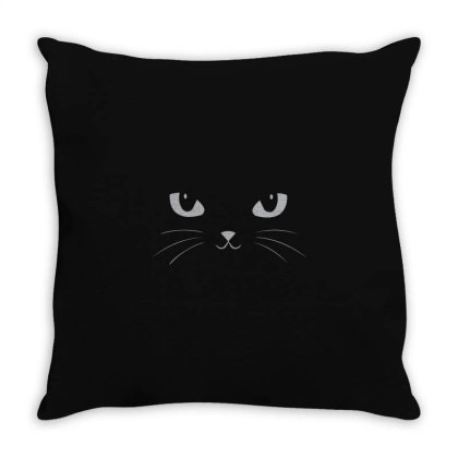 Cute Black Cat Classic Throw Pillow Designed By Yusrizal_