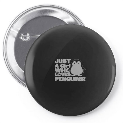 Cute Just A Girl Who Loves Penguins Pin-back Button Designed By Yusrizal_