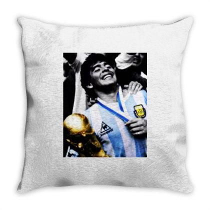 Diego Armando Maradona World Cup Memories Throw Pillow Designed By Smile 4ever