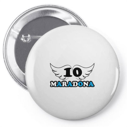 Diego Armando Maradona Football Soccer Fan Lover Pin-back Button Designed By Smile 4ever