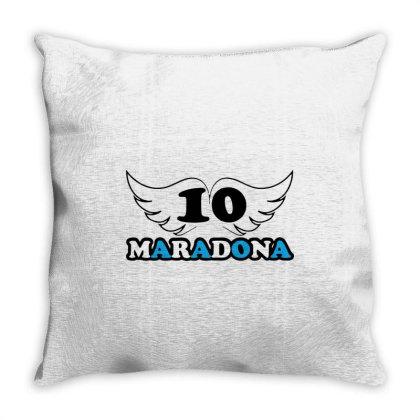 Diego Armando Maradona Football Soccer Fan Lover Throw Pillow Designed By Smile 4ever