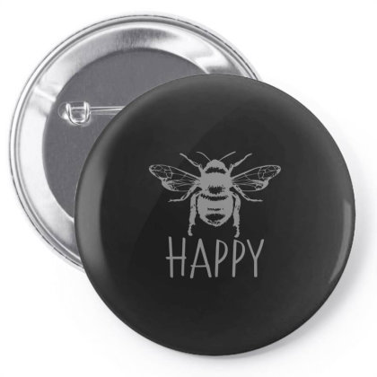 Cute Vintage Bee Happy Pin-back Button Designed By Yusrizal_