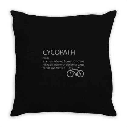 Cycling Funny   Cycopath Noun Essential Throw Pillow Designed By Yusrizal_