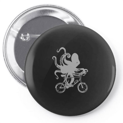 Cycling Octopus Relaxed Fit Pin-back Button Designed By Yusrizal_