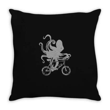Cycling Octopus Relaxed Fit Throw Pillow Designed By Yusrizal_