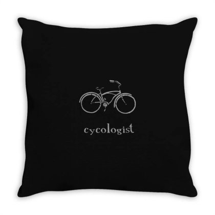 Cycologist Funny Bike Spin Cycling Humor Bicycle Lover Throw Pillow Designed By Yusrizal_